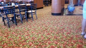 Carpet design of dining room | Shans Carpets And Fine Flooring Inc