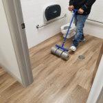 Floor of washroom | Shans Carpets And Fine Flooring Inc