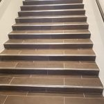 Tile of stairs | Shans Carpets And Fine Flooring Inc