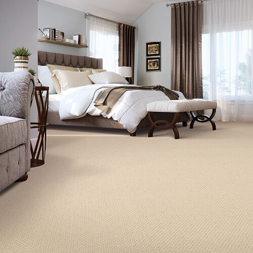 Carpet installation in bedroom | Shans Carpets And Fine Flooring Inc