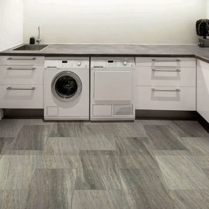 Luxury Vinyl flooring of laundry room | Shans Carpets And Fine Flooring Inc