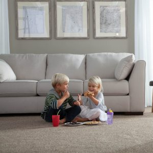 Kids eating on Carpet | Shans Carpets And Fine Flooring Inc