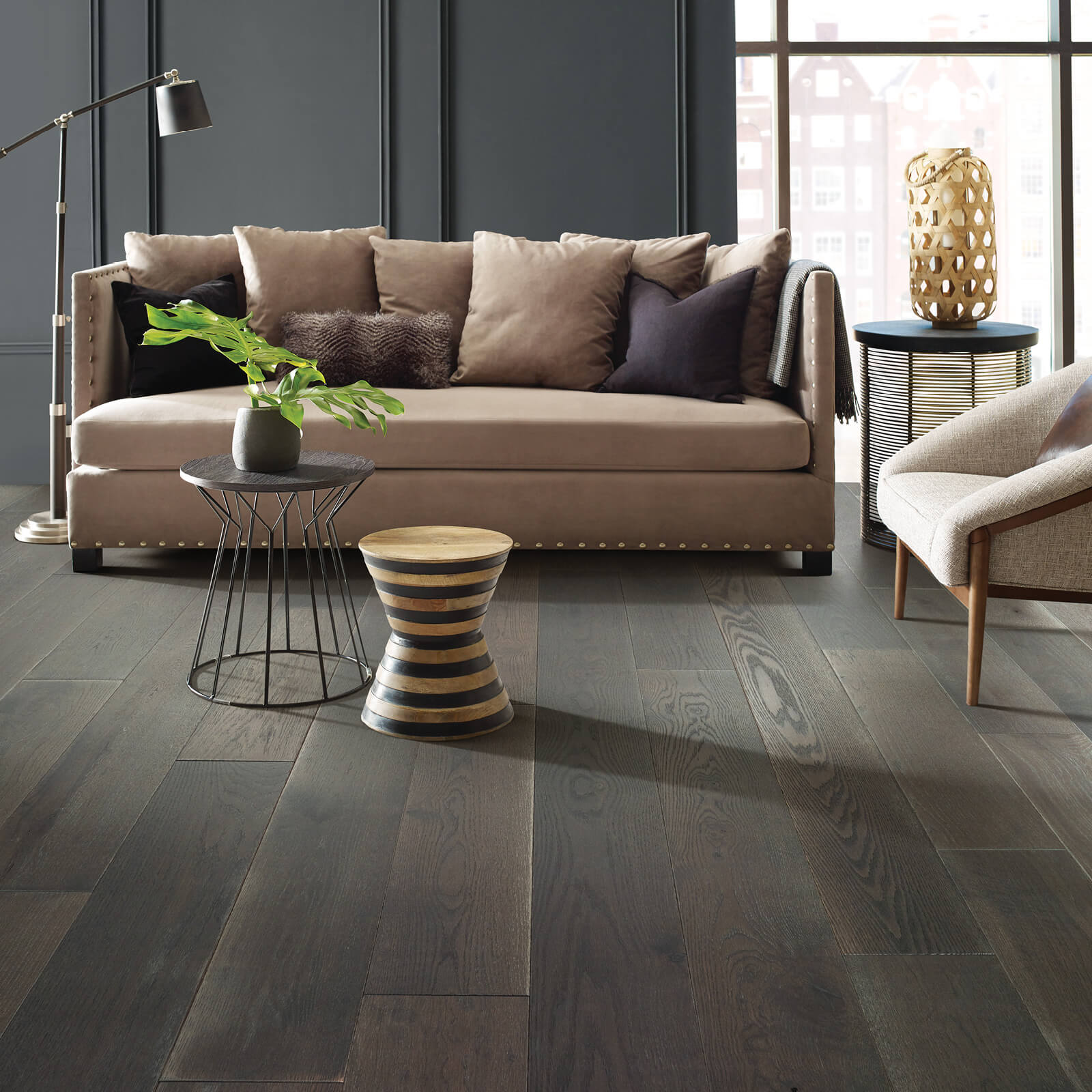 Living room Hardwood flooring | Shans Carpets And Fine Flooring Inc
