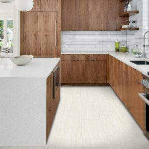 White tiles in kitchen | Shans Carpets And Fine Flooring Inc