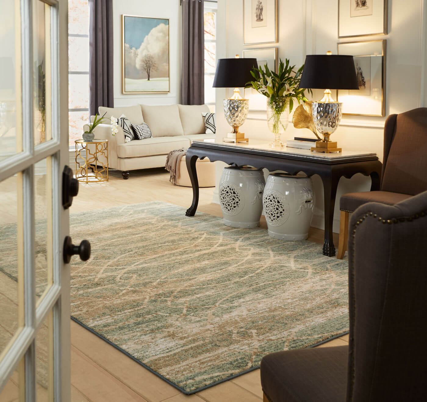 Living room interior | Shans Carpets And Fine Flooring Inc