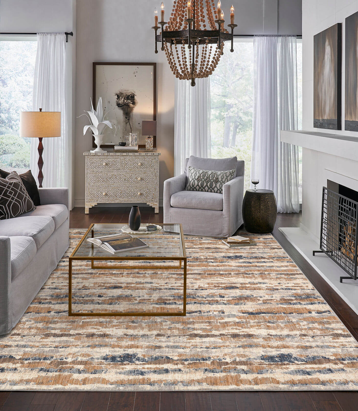 Area Rug in living room | Shans Carpets And Fine Flooring Inc