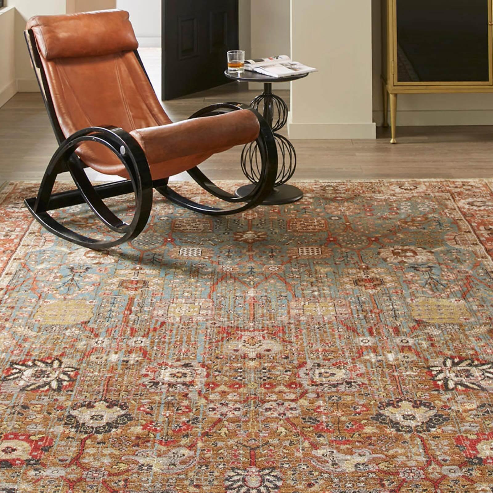 Armchair on Area Rug | Shans Carpets And Fine Flooring Inc