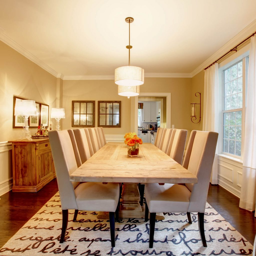 Dining room interior | Shans Carpets And Fine Flooring Inc