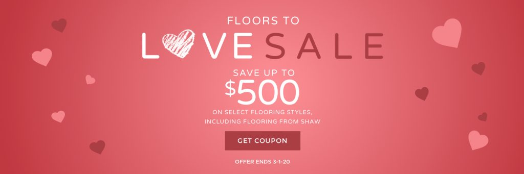 Floors to love sale banner | Shans Carpets And Fine Flooring Inc