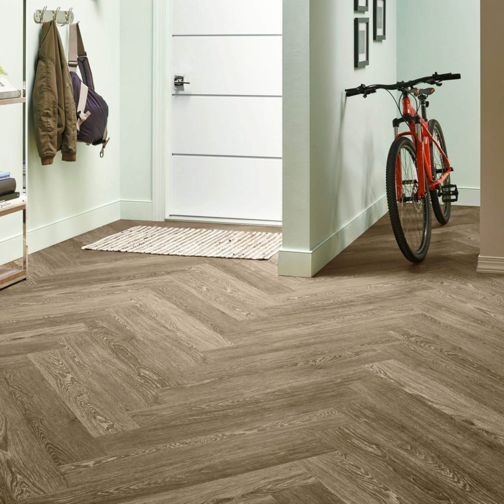 Bicycle on flooring | Shans Carpets And Fine Flooring Inc