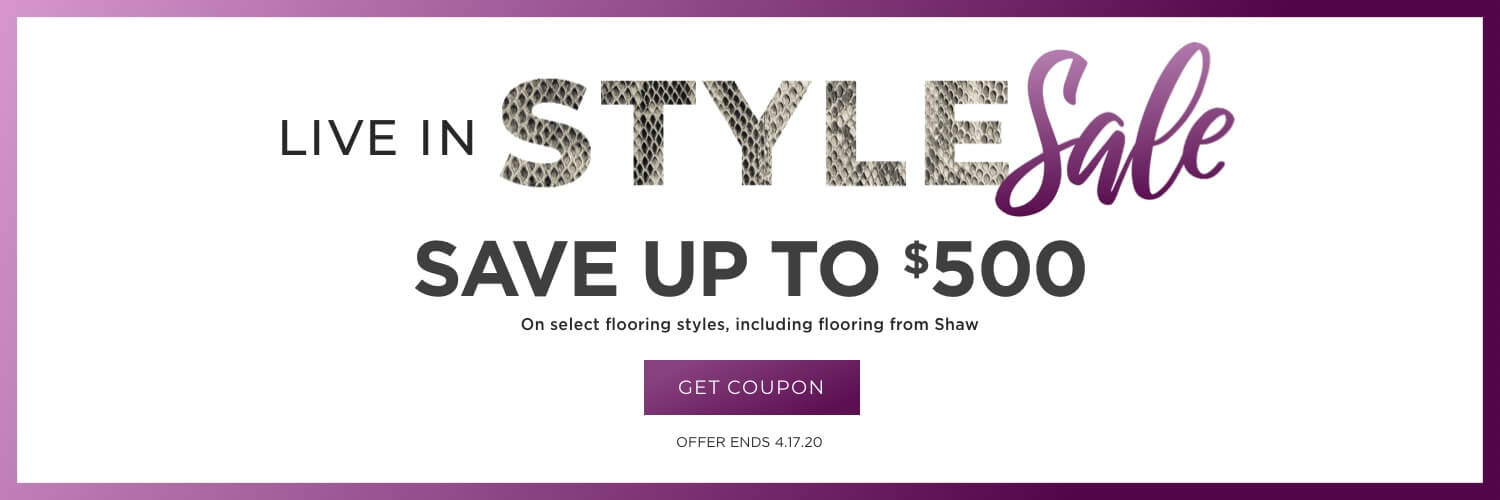 Live in style sale   Shans Carpets And Fine Flooring Inc