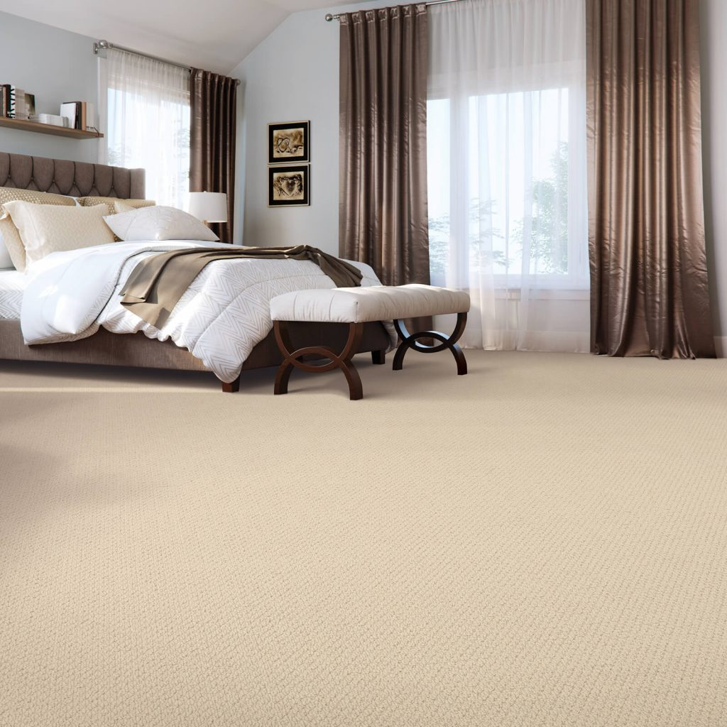 Spacious bedroom carpet flooring | Shans Carpets And Fine Flooring Inc