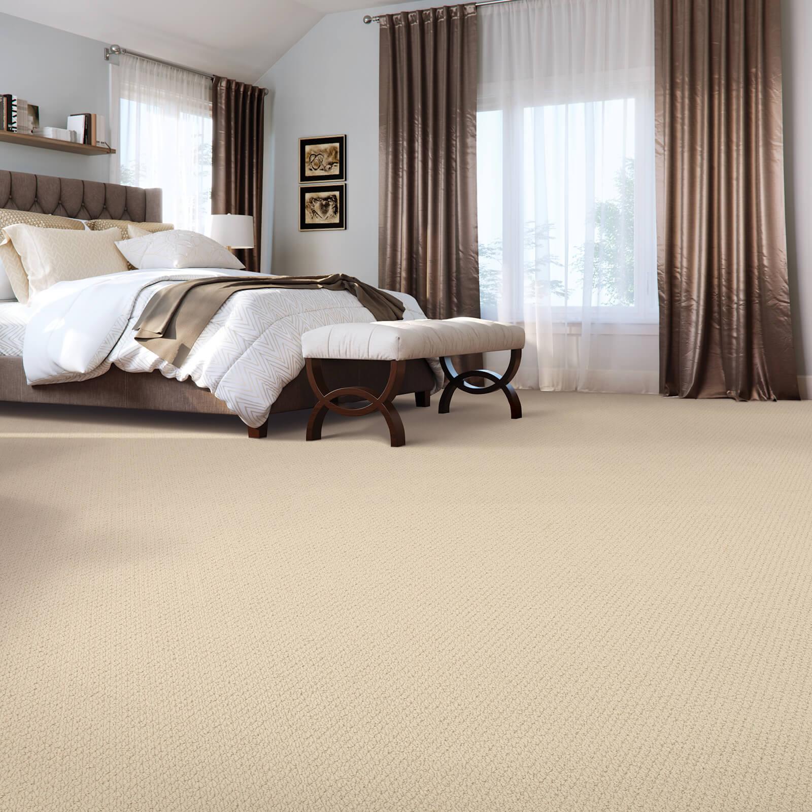 Spacious bedroom carpet flooring | Shans Carpets And Fine Flooring Inc