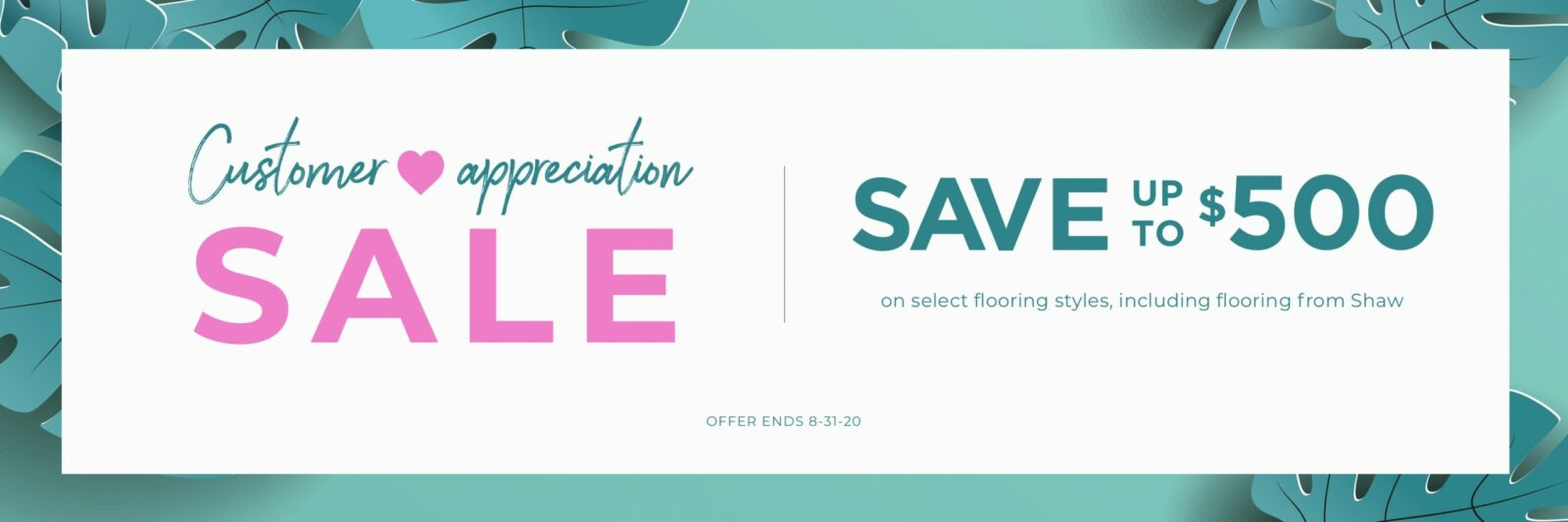 Customer Appreciation Sale | Shan's Carpets & Fine Flooring