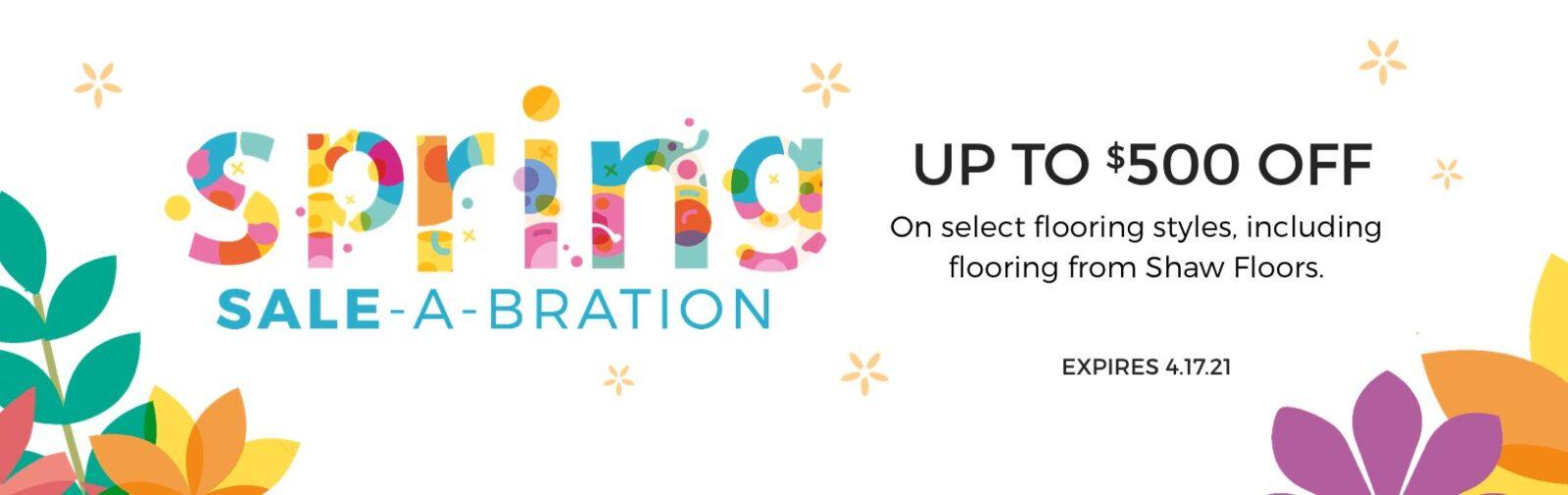 Spring Sale-A-Bration | Shan's Carpets & Fine Flooring